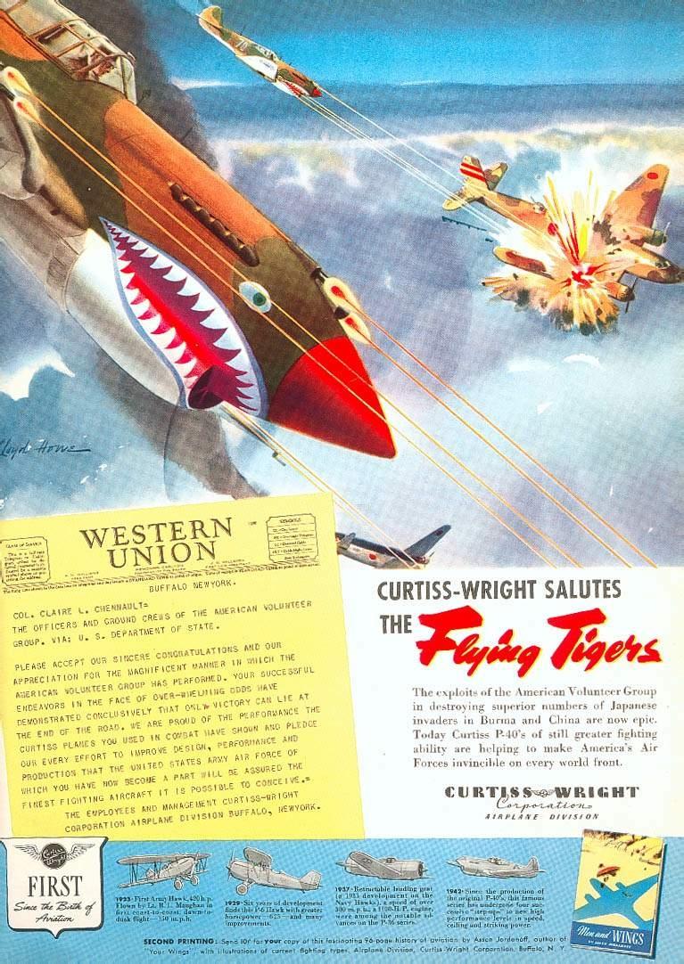 40 Warhawk WW2 ... P 40 Warhawk